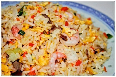 arroz frito rio azul